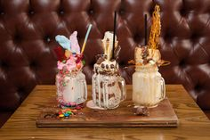 Have a sweet tooth & love milkshakes? Must try the new CRAFT decadent & delicious OhShakes - The Candy Feast, Chocolate Overload & Salted Caramel Delight Fun Desserts, Delicious Desserts, Yummy Treats, Sweet Treats, Love Heart Sweets, Caramel Delights, Salted Caramel Popcorn, Pink Candy, Confectionery