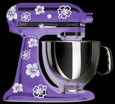 Purple kitchen appliance... Purple mixer!