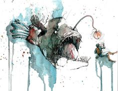 angler fish illustration - Google Search