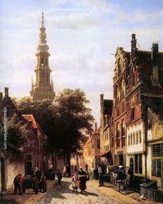 Cornelius Springer Walenkerk Haarlem, painting Authorized official website