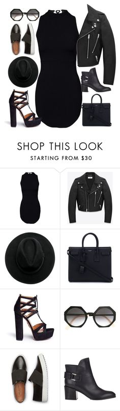 """Без названия #163"" by yananujnova ❤ liked on Polyvore featuring Yves Saint Laurent, Aquazzura, Fendi and Sergio Rossi"