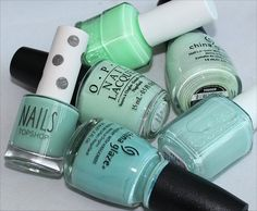 Mint Green Nail Polishes (Click through for comparison photos & swatches)