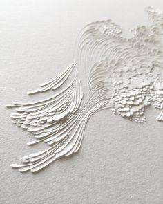 Bas-relief en papier aquarelle grain satiné // Lauren Collin