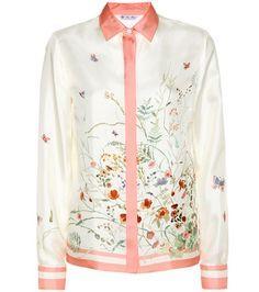 Loro Piana Carolie Printed Silk Shirt For Spring-Summer 2017