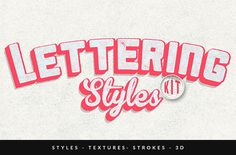 Lettering Styles Kit by Creative Media Co on Creative Market