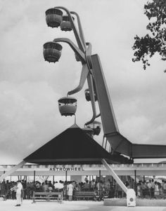 The Astrowheel was one of AstroWorld's original rides. It is pictured here on June 1, 1968. Photo: Houston Chronicle