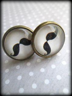 Mustache post earrings.Mustache earrings.Mustache jewelry.Mustache.