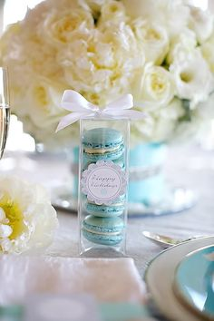 Tiffany Blue, White and Metallic Inspiration | Heavenly Blooms