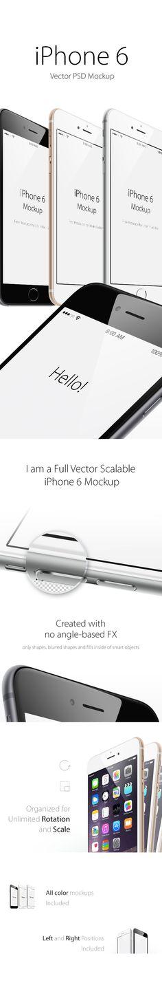 Mockup gratuït d'iPhone 6 en PSD