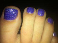 My Purple glittery nails :)