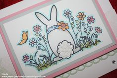 CTMH Alcohol Markers   Outline Rubber Stamp   Easter Card