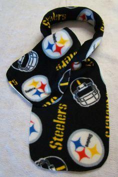 "New PITTSBURGH STEELERS NFL Football Black Scarf Fabric Fleece 60"" Long 9"" Wide #PittsburghSteelers"