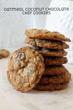 Oatmeal Coconut Chocolate Chip Cookies