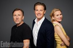 Twin Peaks: Tim Roth, Kyle MacLachlan, and Naomi Watts at San Diego Comic Con 2017 SDCC (photo via Entertainment Weekly) David Lynch Movies, Kyle Maclachlan, Laura Palmer, Between Two Worlds, Tim Roth, Celebrity Photography, Naomi Watts, San Diego Comic Con, Entertainment Weekly
