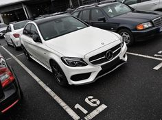 The new C 450 AMG (or lets better say C 43) is really growing on me!! #W205 #MercedesAMG #AMG #C450 #C43 #4matic #white #star #diamondgrill #nightpackage #performance #affalterbach #bonn #RKG by der_landgraf