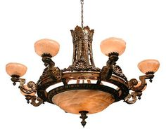 1950s murano venini pink crystal chandelier pendant lighting magnificent 8 arm bronze chandelier with alabaster shades aloadofball Gallery