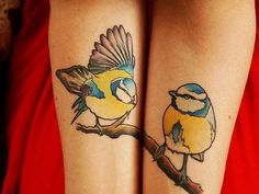 """Useless is each without the other."" -What my father always tells me about marriage. Love these pretty matching tattoos! Artist unknown. Please let us know if you do!"