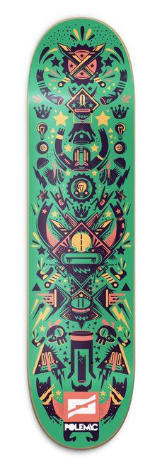 Polemic Skate Decks by New Fren, via Behance