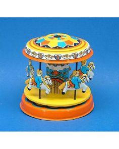 Tin Toy Pony Merry-Go-Round, ms271 - Tin Man Tin Toys
