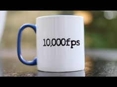 Slow Motion Smashing Mugs, From 500 to 10,000 Frames Per Second