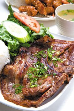 Grilled Pork Chop at Fairwood Drive-Inn & Pho Twice As Nice, Smoke Grill, Grilled Pork Chops, Hawaii Life, Food To Go, Desert Recipes, Pho, Quick Meals, Smoking