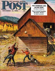 Saturday Evening Post - 11/11/1950: Ranch Baloncesto (John Clymer)