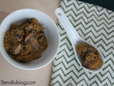 Hearty Mushroom Risotto #MeatlessMonday