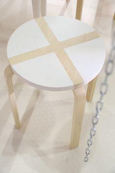Painted IKEA FROSTA stool