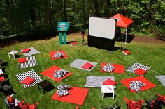 """Drive-In Movie"" party for adults - would be so fun!"