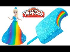 DIY How to Make Play Doh Sparkle Heart Popsicle Modelling Clay Learn Colors RainbowLearning - YouTube