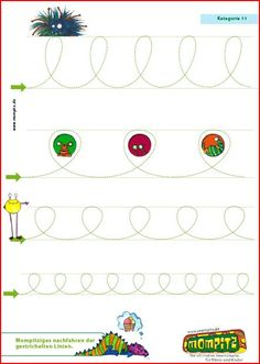 GRAFOMOTRICIDAD - AULA PT English Handwriting, Learn Handwriting, Improve Your Handwriting, Pre Writing, Start Writing, Writing Skills, Tracing Worksheets, Preschool Worksheets, Preschool Activities