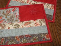 Mothers Day Gift Quilted Mug Rug Potholder by Mountainquiltworks, $14.95