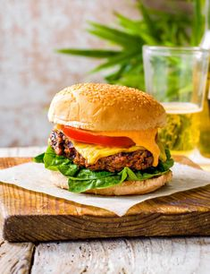 Don't be daunted by the long ingredient list or the prep time for this vegan burger: it's actually a super simple process and the results are delicious – this recipe uses added chunky shiitake mushrooms to replicate the texture of mince and to give an umami boost