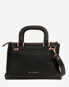 Stab stitch bag - Black | Bags | Ted Baker UK