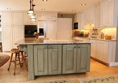 Family Friendly l shaped kitchen. Our layout. Kitchen Cabinet Colors, Kitchen Pantry, Kitchen Cabinets, Painted Island, Distressed Kitchen, L Shaped Kitchen, Traditional Kitchen, Painted Furniture, Kitchen Design