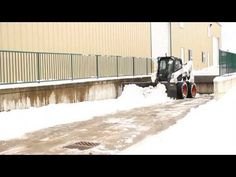 V-Plow Snow Plow Attachment for Skid Steer Loader - Demo - YouTube