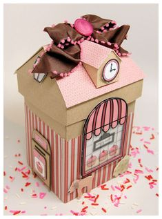 New Home Card - Essential products for this project can be found on Crafting.co.uk - for all your crafting needs. - Cupcake explosion box