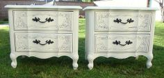 SHABBY CHIC/FRENCH PROVINCIAL,NIGHT STANDS COTTAGE WHITE