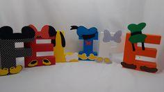 Letra 3D - Turma do Mickey