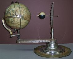 Andrews & Co. eight inch terrestrial globe with the latest discoveries and oceanic currents c1885