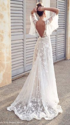 Anna Campbell 2019 Wedding Dresses - Wanderlust Bridal Collection part mariage mariage boheme champetre champetre deco deco robe romantique decorations dresses hairstyles Backless Lace Wedding Dress, Bohemian Wedding Dresses, Dream Wedding Dresses, Boho Dress, Boho Wedding, Bohemian Bride, Modest Wedding, Lace Weddings, Romantic Weddings