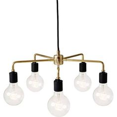 tribeca series leonard chandelier - with funky bulbs