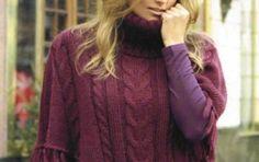 Crea un poncho a punto treccia con i nostri lavori a maglia [FOTO] - Come realizzare un poncho come quello che vedete in fotografia? Seguite le spiegazioni che trovate in questo articolo in cui verrete guidate passo a passo per la creazione di questo lavoro a maglia.