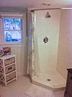 Showers With Curtains