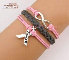 Bracelet  Infinity Infinity Wish Breast Cancer by TheAngelDiaries, $3.99