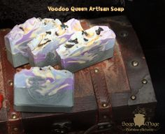 LIMITED+EDITION!  Soap+inspired+by+the+lovely+Queen+of+Voodoo,+Marie+Laveau.+Scent+is+a+sweet,+woody,+powder,+incense+-+New+Orleans+Style.+  Watch+me+make+it+HERE!+http://soapmage.storenvy.com/watch-me-make-soap  Net+Wt.+4.5+oz.+ Ingredients:+Oils+of+olive,+coconut,+sustainable+palm,+almon...