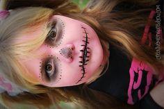 halloween, makeup, skeleton, pink skeleton, diy, costume, ideas, costume ideas, oct 31, girls, kids, tweens, face paint, spooky makeup, makeup