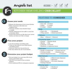Kitchen remodeling checklist