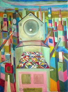 Tunel infinito, pinturas de Diego Manuel