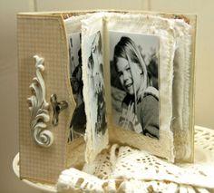 Inside Anne Kristine' mini-album:  Anne's paper fun